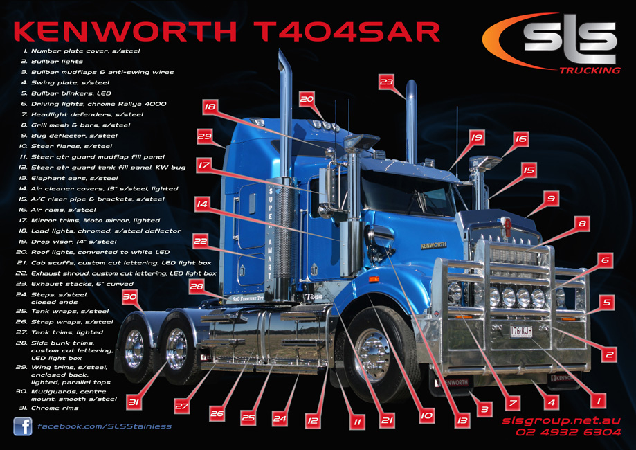 Kenworth T404sar Stainless Accessories